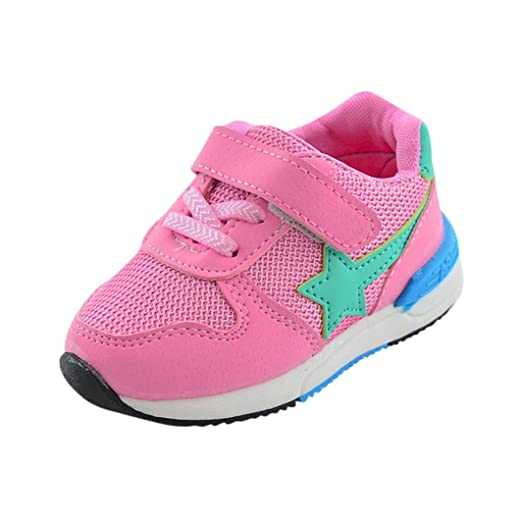 700505f6031d8 Amazon.com: KONFA Toddler Baby Boys Girls Star Breathable Mesh Shoes ...