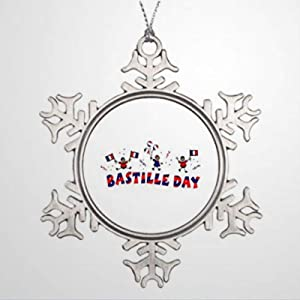 BYRON HOYLE Tree Branch Decoration Bastille Day Santa Decorations Christmas Snowflake Ornaments Xmas Decor Wedding Ornament Holiday Present