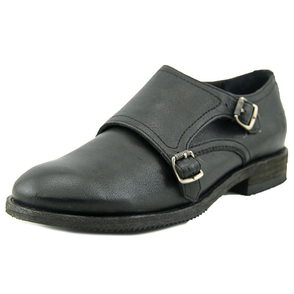 Frye Women's Ethan Double Monk B00R54RQ2E 9 B(M) US|Black Buffalo Leather
