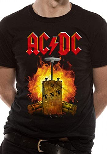 Official AC//DC T.N.T Dynamite Unisex T-Shirt Back In Black Dirty Deeds Rock Tour