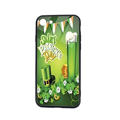 Amazon.com: St. Patricks Day Clover Clear Case for iPhone 8 ...