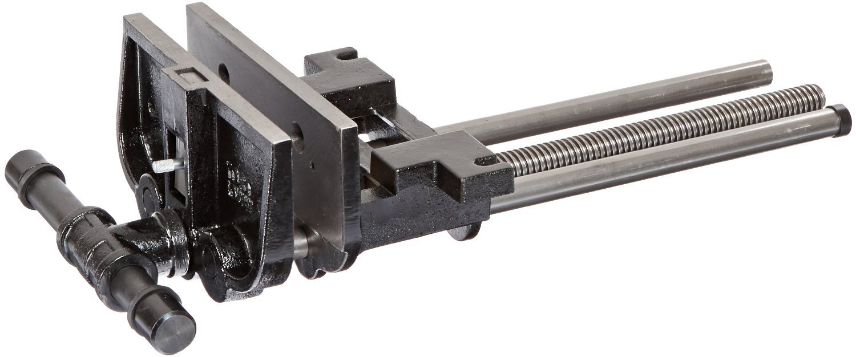 Yost 10047 Heavy Duty Ductile Iron Woodworker's Vise, Rapid Action, 10'', Black