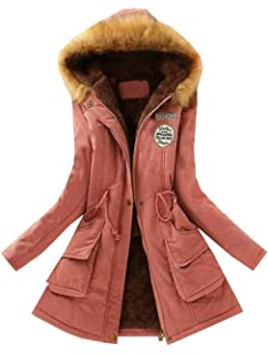 Bravepe Women Thermal Oversized Loose Fit Faux Fur Hooded Fleece Lined Denim Quilted Jacket Coat