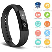 HolyHigh Smart Fitness Band, Fitness Tracker Watch for Men Women Kids Unisex Sports Activity Tracker Watch with Step Counter Calories Burned Sleep Monitor Call SMS Alarm Notification
