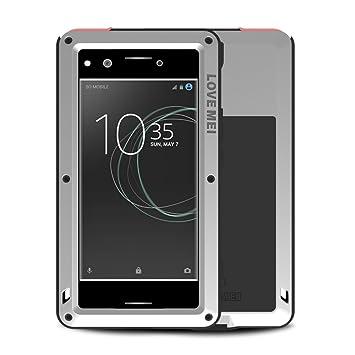 Xperia XZ Premium Funda, Love Mei Poderoso Tarea Pesada Híbrido Aluminio Metal Armadura Antichoque Antipolvo Gorilla Vaso Carcasas para Sony Xperia XZ ...
