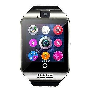 Reloj Inteligente Bluetooth Smartwatch,Teléfono Inteligente Pulsera de Pantalla Curvada Soporte SIM / TF para