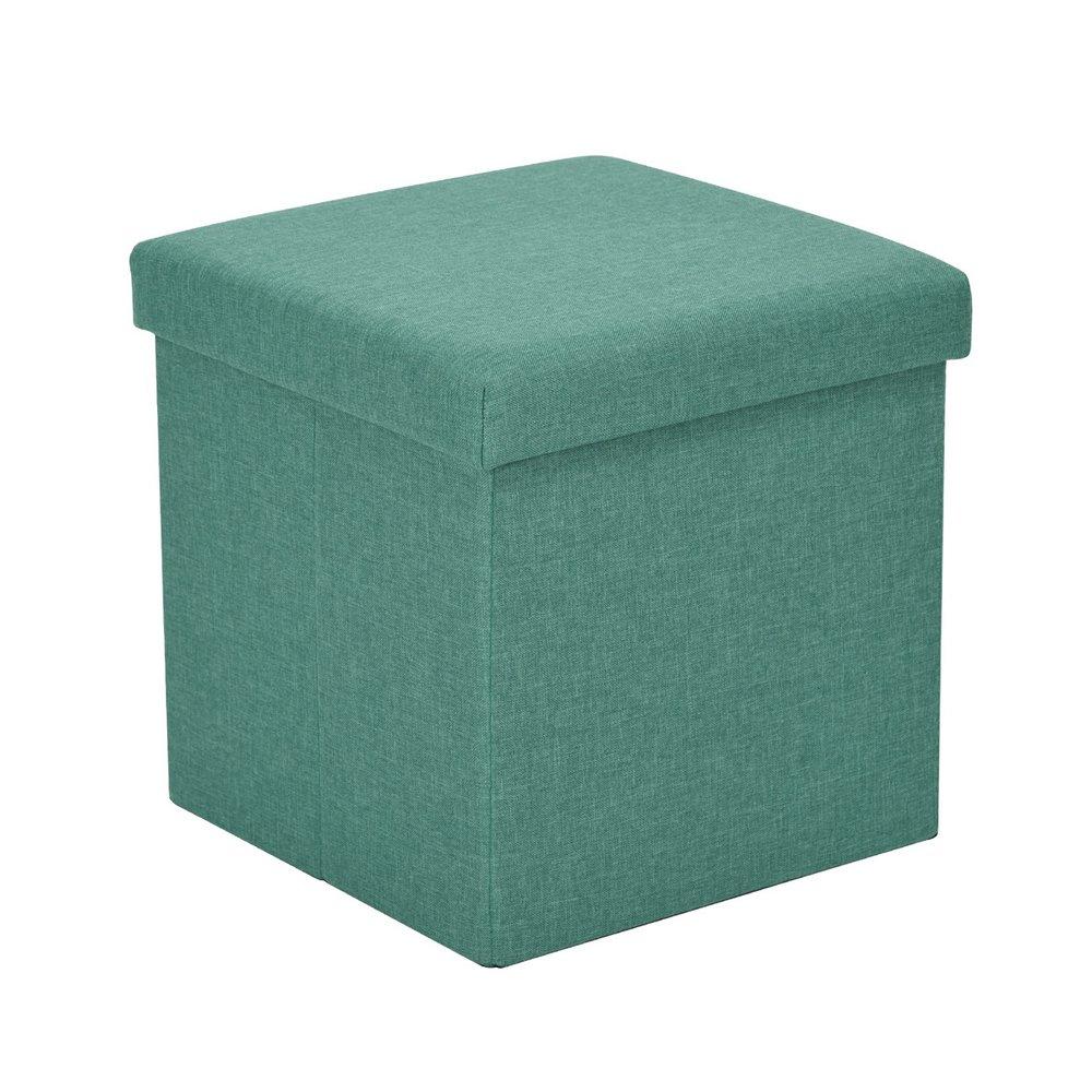 Innovareds funzionale archiviazione pieghevole panca coperchio rimovibile Sgabello poggiapiedi pouf 38x 38x 38cm colore verde