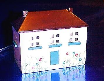 Amazon Com Dollhouse Mini Handpainted Wood Toy Chest Flip Top Roof
