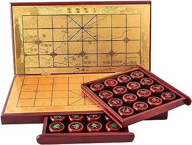 GZ Xiangqi Juego de ajedrez Chino con el Tablero Plegable, Tradicionales Xiangqi educativos de Estrategia Juegos de Mesa clásicos for 2 Jugadores: Amazon.es: Juguetes y juegos