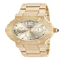 Angel Multi-Function Champagne Dial Gold-plated Ladies Watch 14751