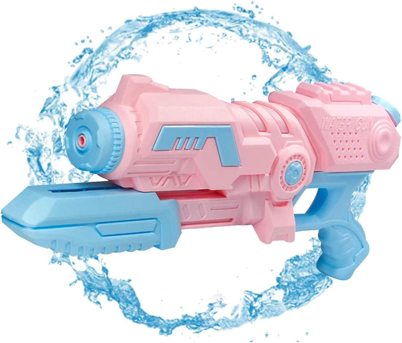 Sunshine smile Pistola de Agua Grande,Pistola de Agua Juguete,Pistola de Agua Alcance Largo,Pistola de Agua niños Adultos,Pistola de Agua de Verano para Playa (Rosa Claro)