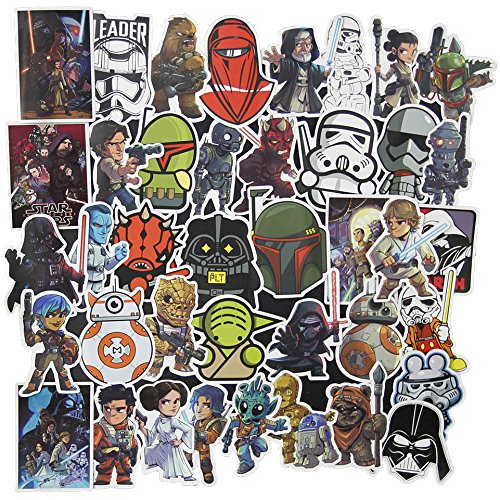 100 Pcs Star Wars Sticker Pack,Cool Stickers Notebook Guitar Skateboard Travel Water Bottle Stickers Waterproof]()