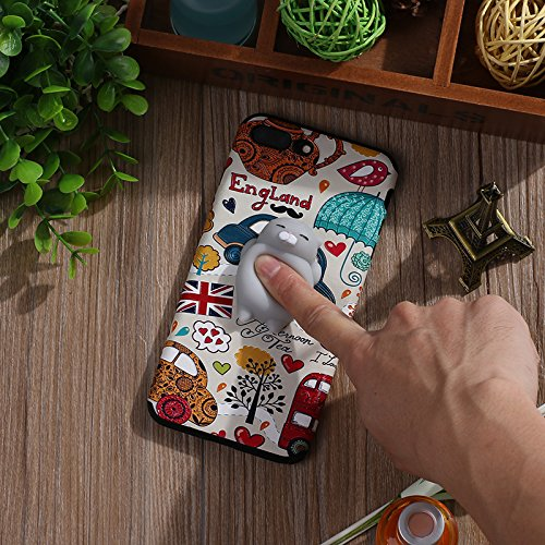 Pinzhi Cute Cartoon Phone Case für das iPhone 7 Plus, iPhone 7s plus 3D Cute Soft Silikon Pappy Squishy Katze