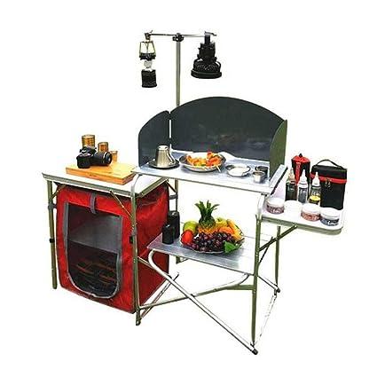 Hongsheng Exterior de la Cocina móvil de aleación de Aluminio portátil Plegable Mesa Multifuncional Estufa