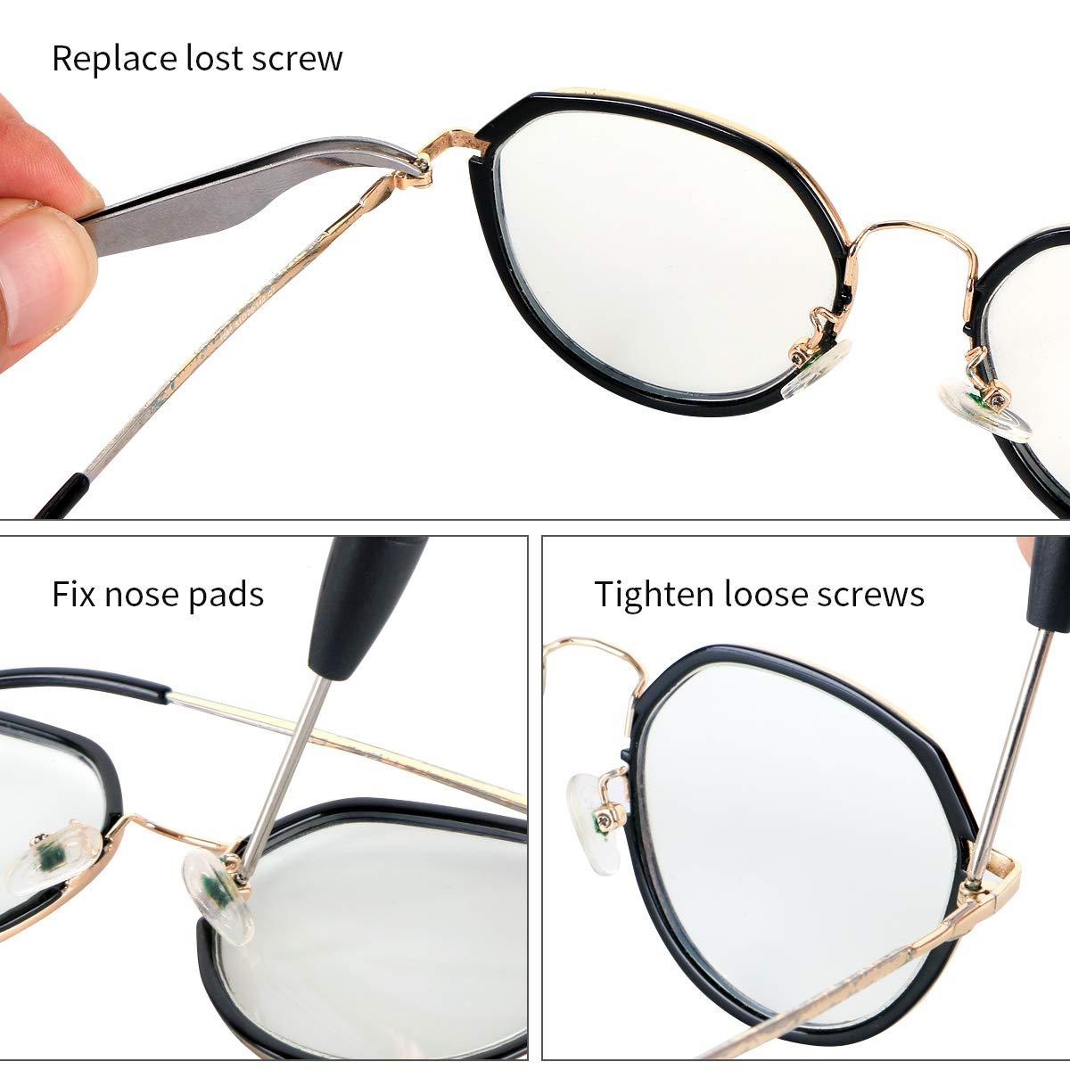 Amazon.com: Kit de reparación de gafas, kit de reparación de ...