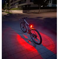 Fischer Twin Fietsachterlicht met 360 graden verlichting van de grond voor meer zichtbaarheid en bescherming, oplaadbare…