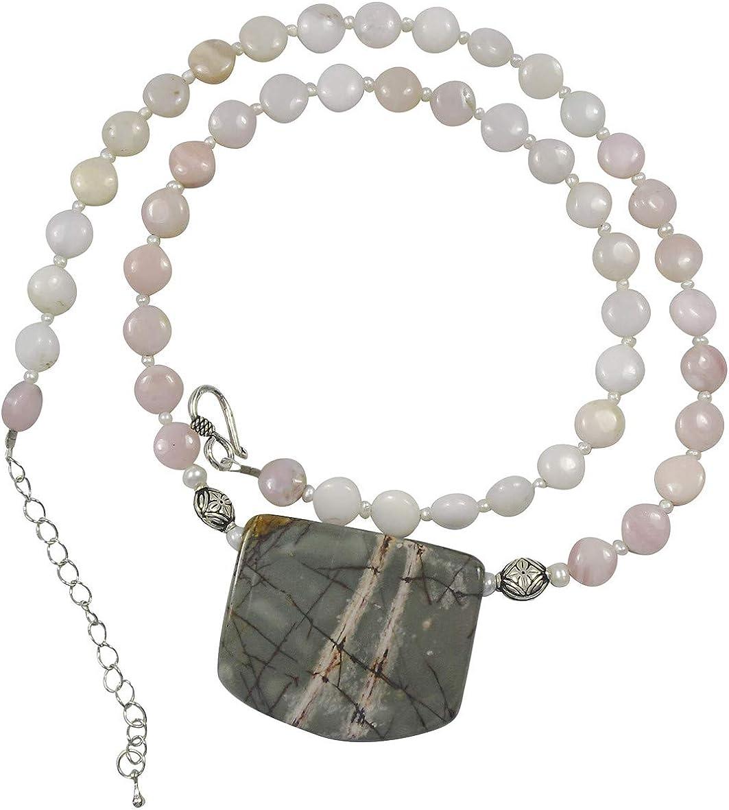 Gemstone Necklace Gemstone Jewelry Picasso Jasper Beaded Jewelry Beaded Necklace Jasper Jewelry Jasper Necklace Copper Jewelry