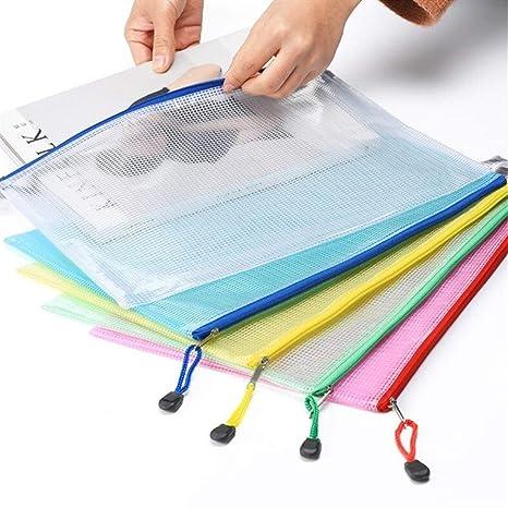 Plástico Transparente A4 Cuadrícula Carpeta De Archivos ...