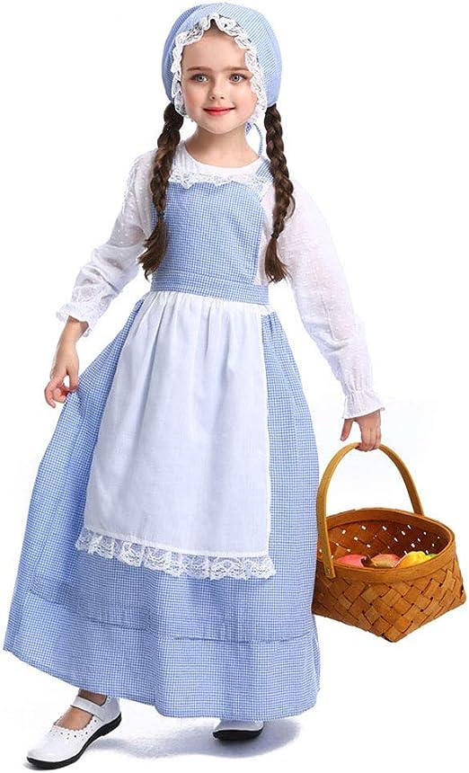 QYS Colonial Pioneer Prairie Vestuario histórico Vestido para ...
