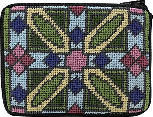 Frank Lloyd Wright Luxfer Prism Needlepoint Coin Purse Kit Stitch /& Zip