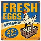 Fresh Eggs Farm Raised Sign