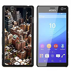 Paisaje urbano de Nueva York- Metal de aluminio y de plástico duro Caja del teléfono - Negro - Sony Xperia C4 E5303 E5306 E5353