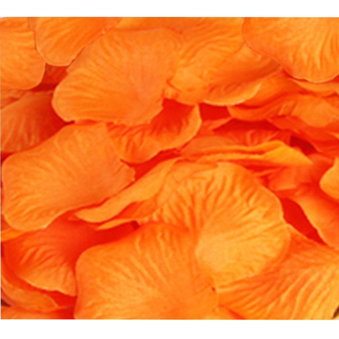 CO RODE Wedding Decoration Silk Rose Petals Pack of 2000 Orange CO-RODE