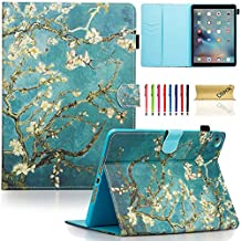 iPad Air 2 Case, iPad 6 Case, Dteck(TM) Pretty Cute Cartoon Flip Smart Kickstand Case with {Auto Sleep Wake} Premium Synthetic Leather Magnetic Wallet Cover for Apple iPad Air 2-Blossom