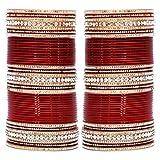 Lucky Jewellery Maroon Bridal Punjabi Choora, Wedding Chudas