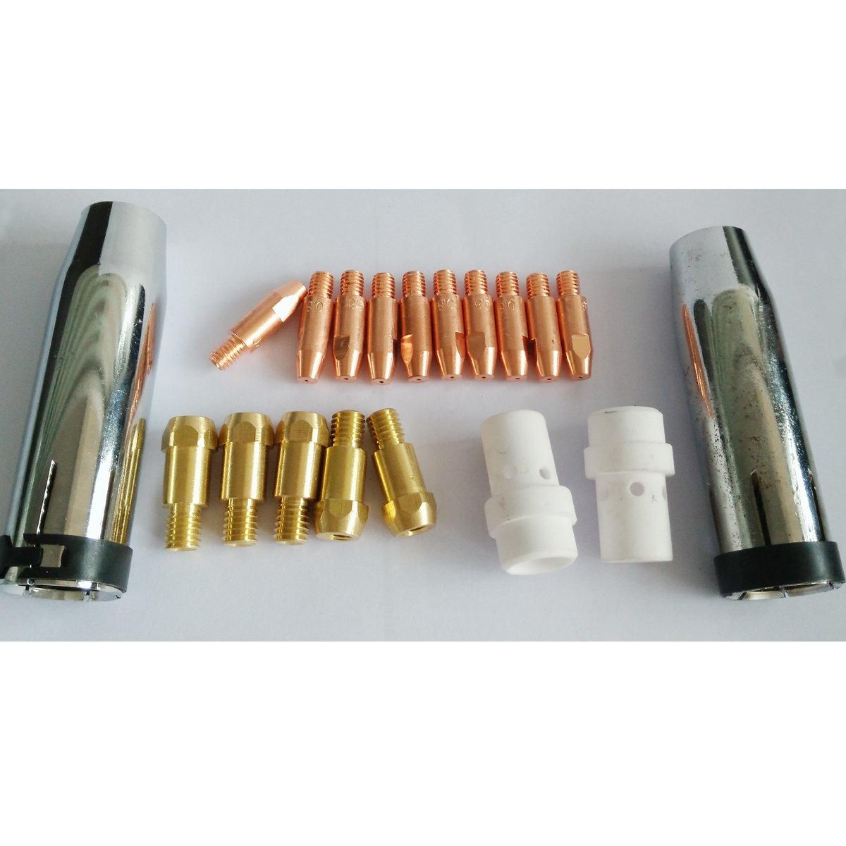 Warrior Torch Consumables Kit For Binzel MB36 36KD MIG Welding Torch Nozzles Gas Diffusers Contact Tips Holder 1.0mm Warrior Welding Supply