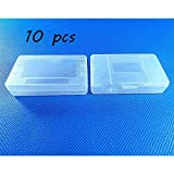 Laixing 10pcs Clear White Game Cartridge Case for Game Boy GBA SP