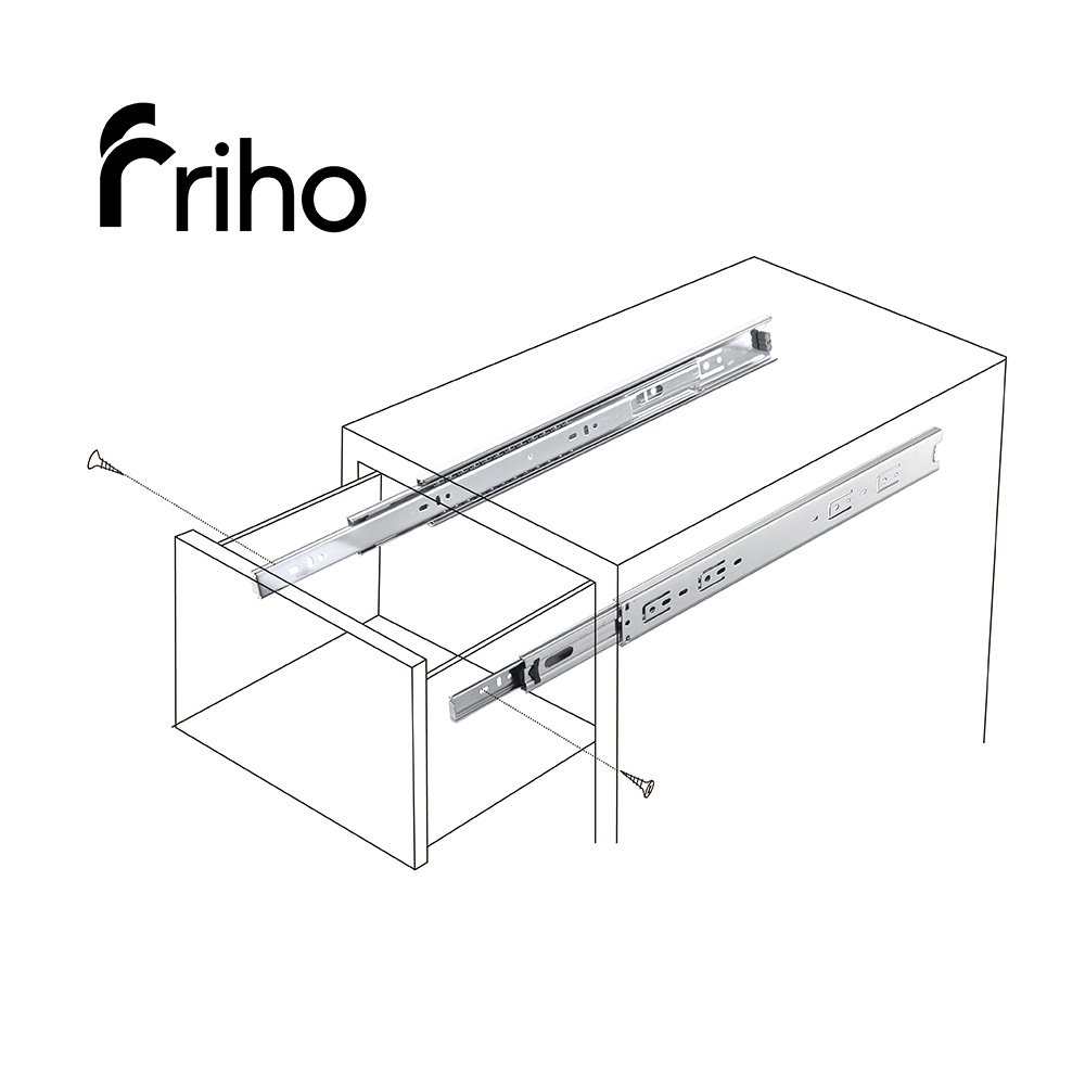 Friho 10 Pair of 22 Inch Hardware Ball Bearing Side Mount Drawer Slides, Full Extension, Available in 10'',12'',14'',16'',18'',20'',22'' Lengths by Friho (Image #6)
