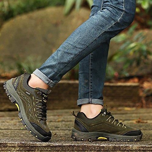 Arrampicata da da Escursionismo Trekking Scarpe da All'aperto Escursionismo Uomo Scarpe Verde da Calzature Scarpe Sneakers Escursionismo Donna Stivali da KAMIXIN XgOUPg