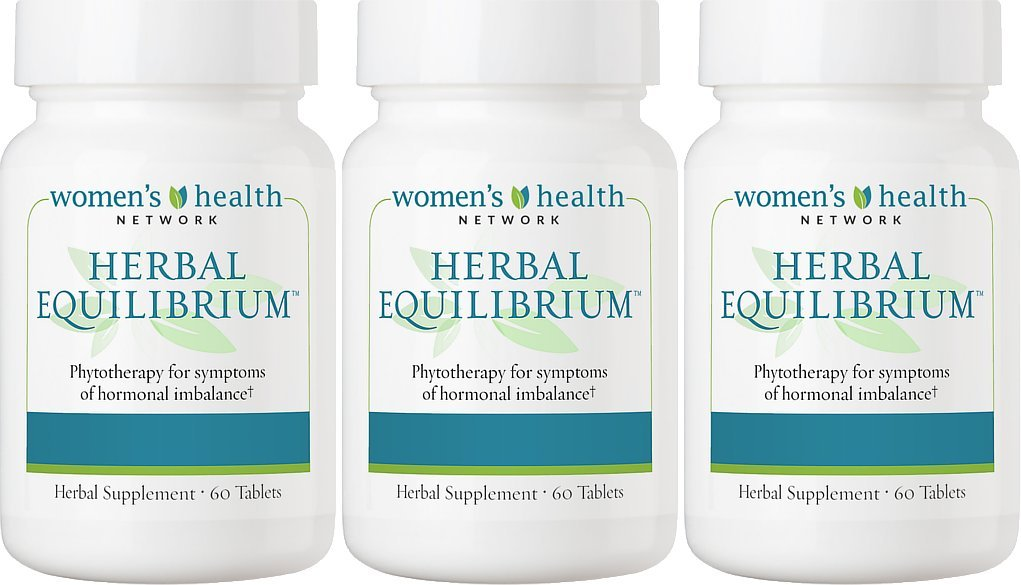 Herbal Equilibrium by Women's Health Network - Natural Menopause Support Supplement for Hormonal Balance and Hot Flash Relief (3 Bottles)
