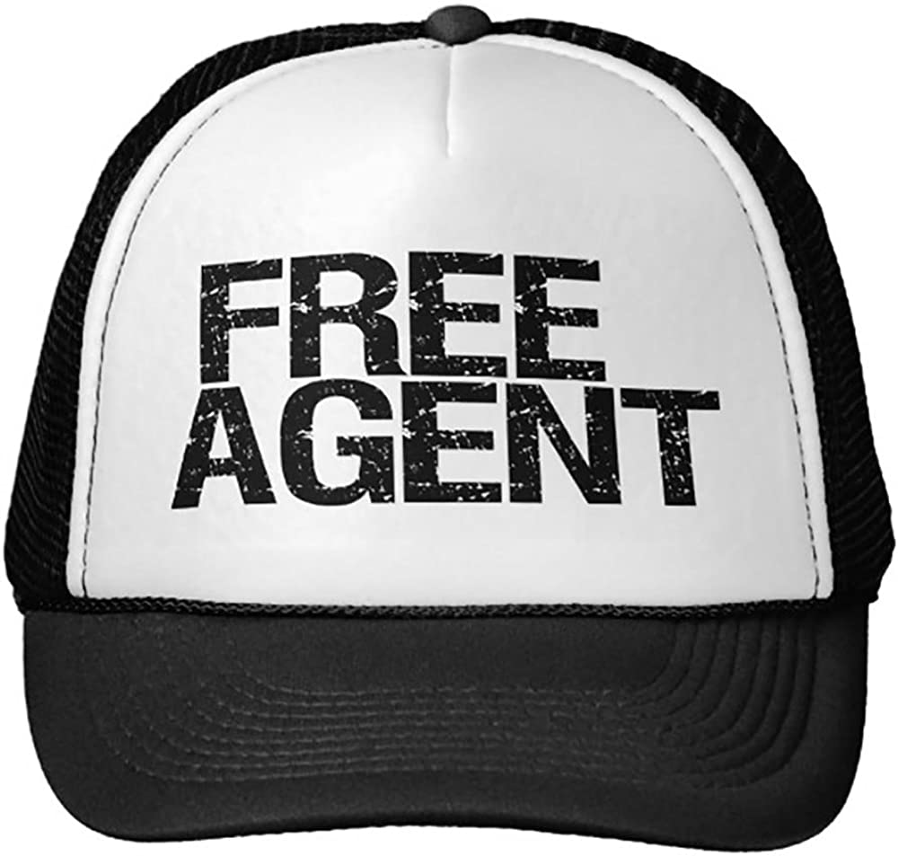 Trucker Hat Black Single Smity 106 Free Agent