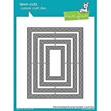 LAWN FAWN Cuts Stackables Dies: Outside-In Stitched Scalloped Rectangle (LF1505)
