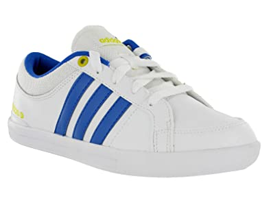 d3cc2042941355 Adidas NEO Skool Lo White   Blue Leather Lace Flat Pump Trainers Shoes  Unisex (UK