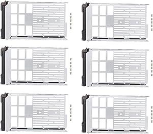 ApplianPar Pack of 6 3.5 inch SAS SATA Hard Drive Tray Caddy F238F for Dell PowerEdge R710