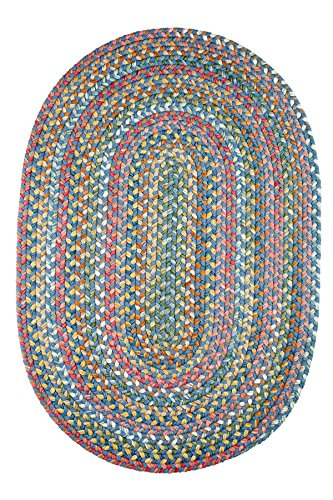 Oval Small Rugs (Chelsea Rug, 2 ft by 3-feet, Sapphire)