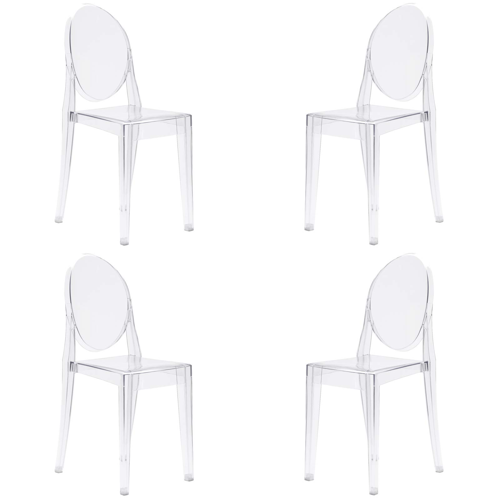 Poly and Bark Burton Side Chair in Clear (Set of 4) by POLY & BARK (Image #1)