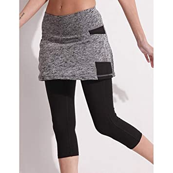WEICHUNC Los Pantalones de Yoga Pantalones Cortos Falda Operando ...