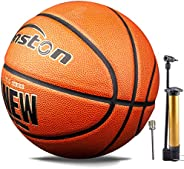 Senston TPU/PU Leather Basketball Size 7 - Outdoor/Indoor Basketball 29.5 inch for Training, Competition, Ente