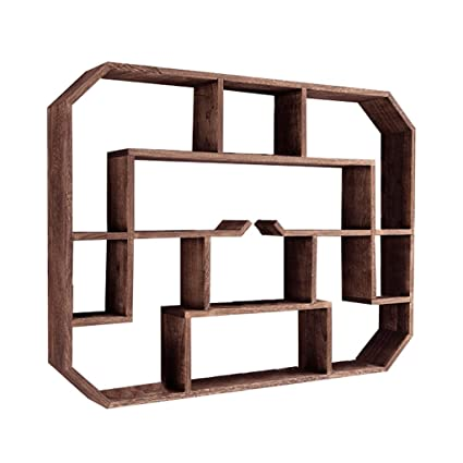 Amazon.com: Wall Shelf Vintage Style Multifunction Square Grid Wall ...