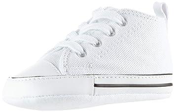 Converse Chuck Taylor All Star First Star High Niños Zapatillas Blanco: Amazon.es: Deportes y aire libre