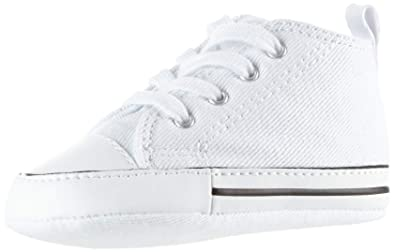 b9fd59256f3873 Converse First Star Hi White Leather 81229 Crib Size 4