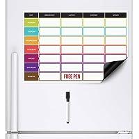 CKB LTD planificador de dietas | Pizarra blanca magnética para el frigorífico con rotulador A3, Ideal para la…