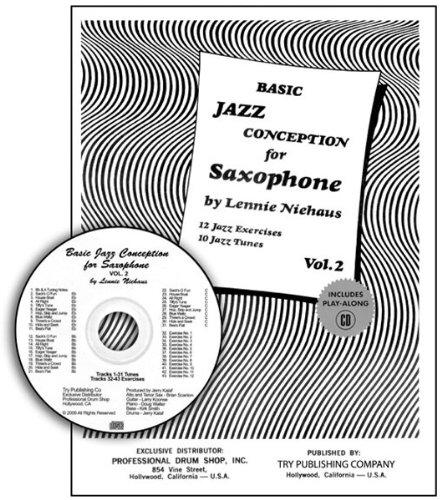 Basic Jazz Conception for Saxophone Vol 2 - 12 Jazz Exercises 10 Jazz Tunes Book/CD (Exercises Saxophone)