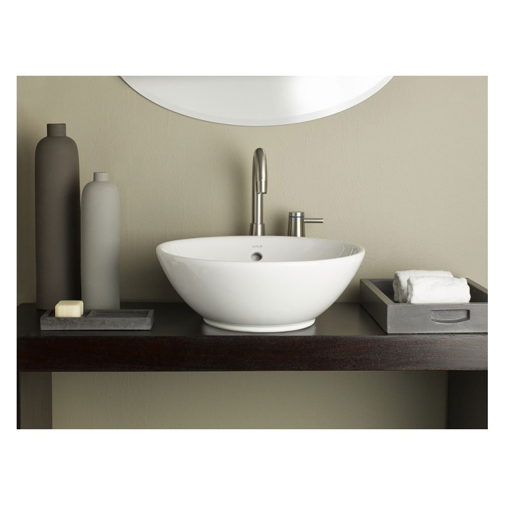 cheviot 1198 wh white water lily vessel sink cheap www a. Black Bedroom Furniture Sets. Home Design Ideas