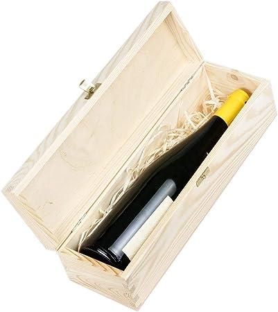 Amazinggirl Cajas de Madera para vinos - Estuches Vino Caja Madera Regalo con Tapa Pintar decoupage por uno Botella: Amazon.es: Hogar