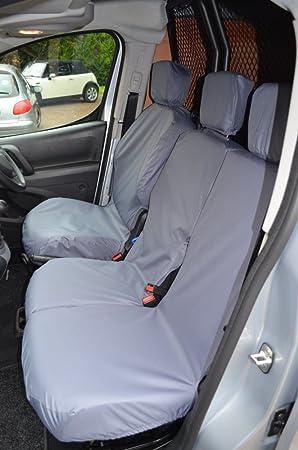 08 on Red HEAVY DUTY Waterproof VAN Seat COVERS 2+1 Peugeot Partner